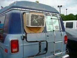 Redneck van air conditioner