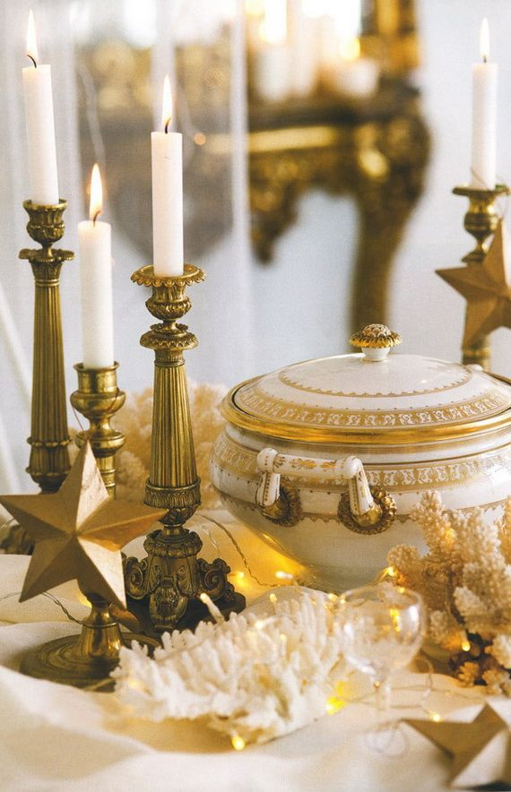 Elegant Holiday with New Years Eve Candle | Candles, Gold ...
