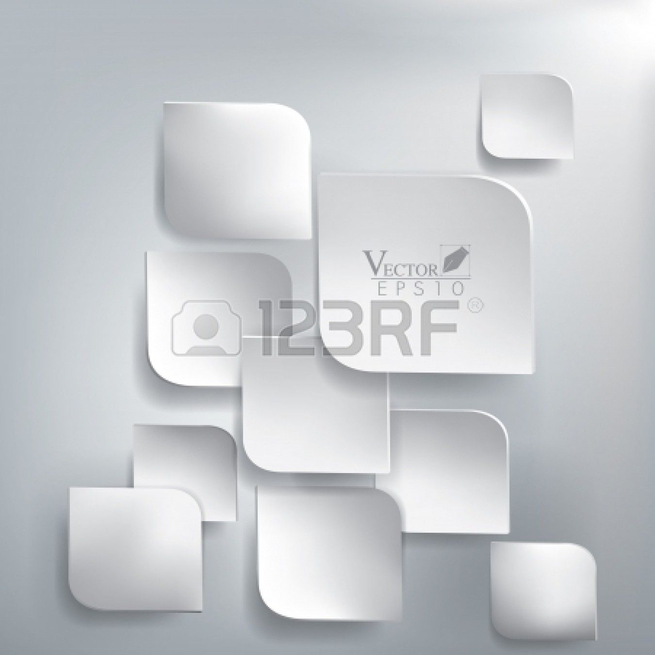 Abstract 3D paper design Stock Vector