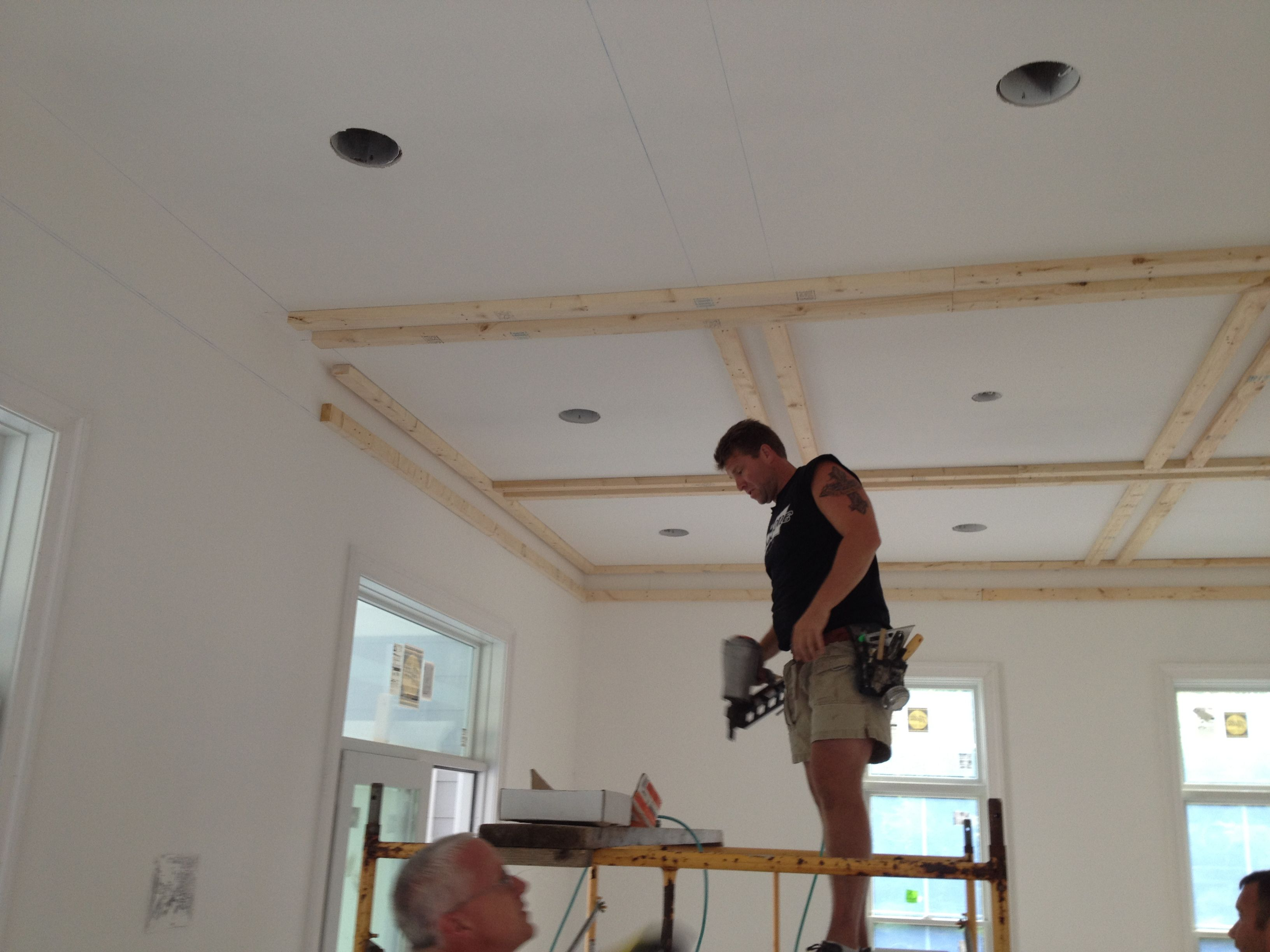 ceiling treatments | We are adding a custom coffered ...