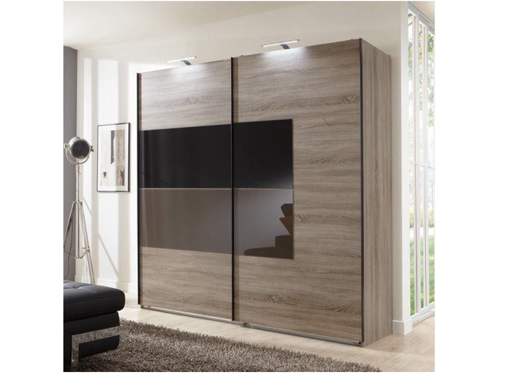 Two Door Sliding Glass Wardrobe Design Id548 - Sliding Two ...