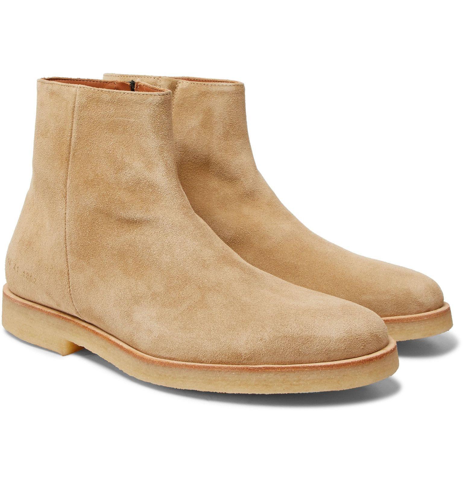 Common Projects side-zip suede boots