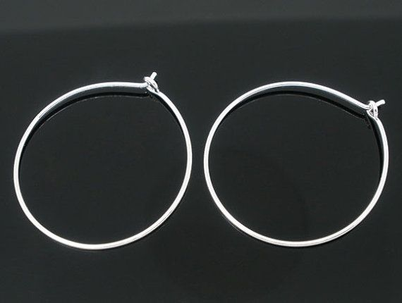100 Silver Plated Hoops