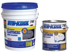 Sta Kool 780 Ultra White Siliconized Elastomeric Roof Coating Is The Coolest And Highest Performing Whit Elastomeric Roof Coating Roof Coating Roof Damage