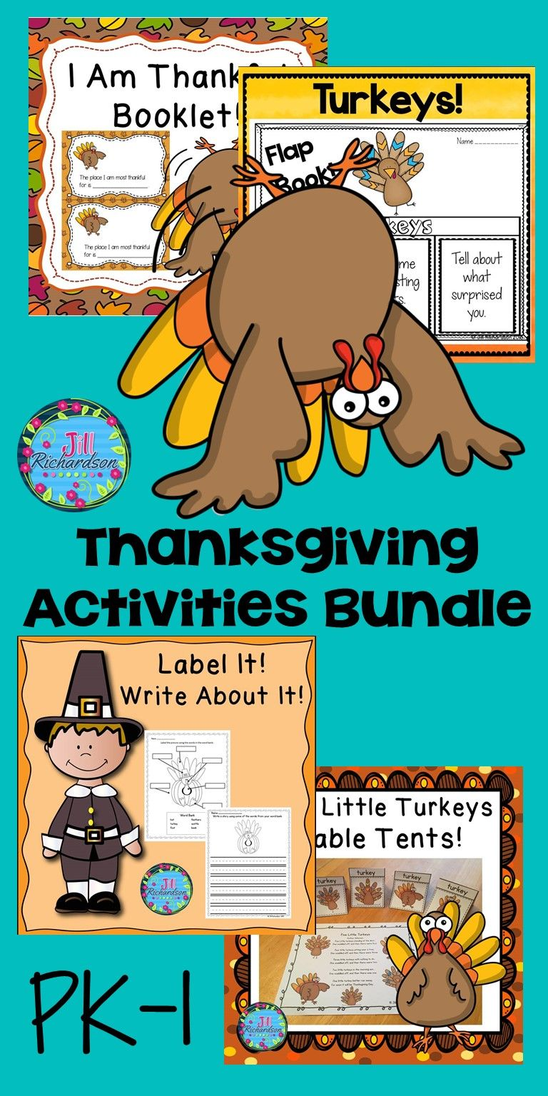 Thanksgiving Activities For PK, K, & 1 - Thanksgiving ESL ...