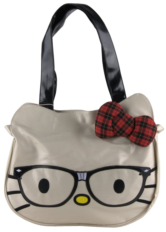 22c3f3c44a Women s Hello Kitty Nerd Face Bag Loungefly
