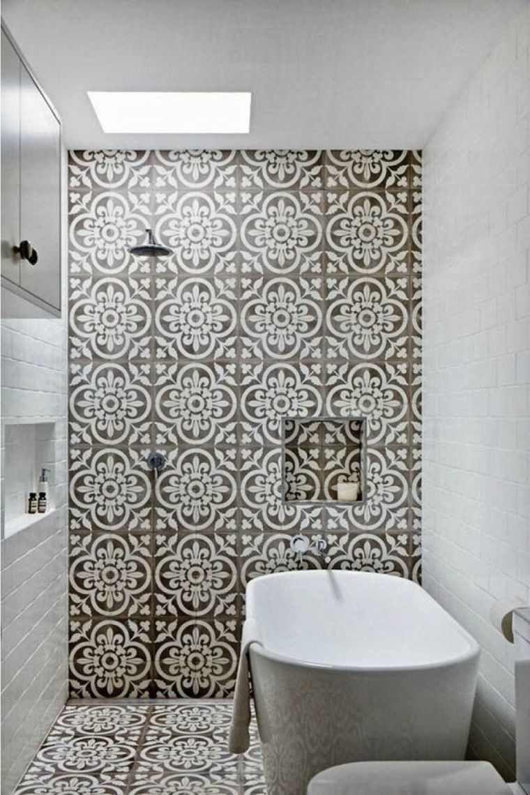 tendance déco 17 salle-de-bain-carrelage-motif-cabine-douche