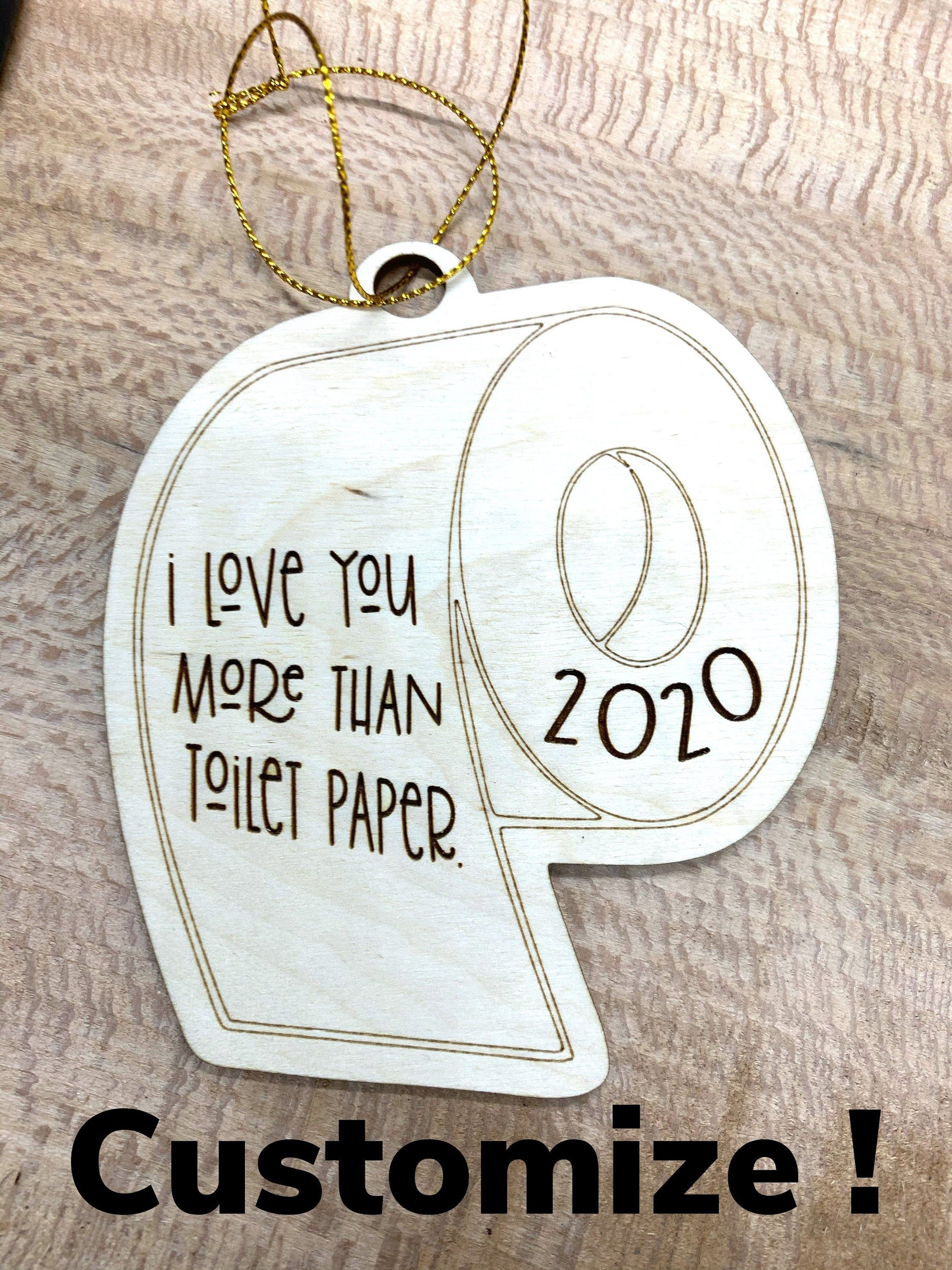Customizable Toilet Paper Ornament Car Charmtoilet Paper Etsy Paper Christmas Ornaments Paper Ornaments How To Make Ornaments