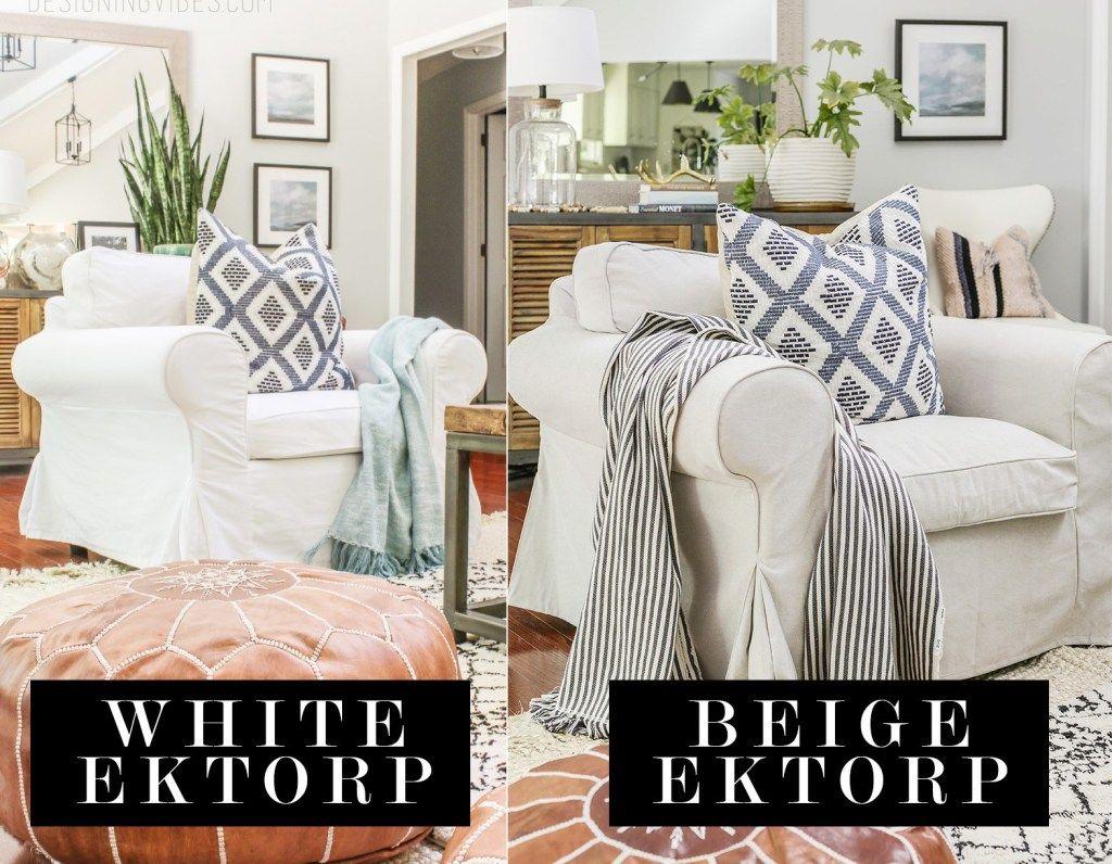 Ikea Ektorp Lofallet Beige Slipcover Versus White Slipcover Re