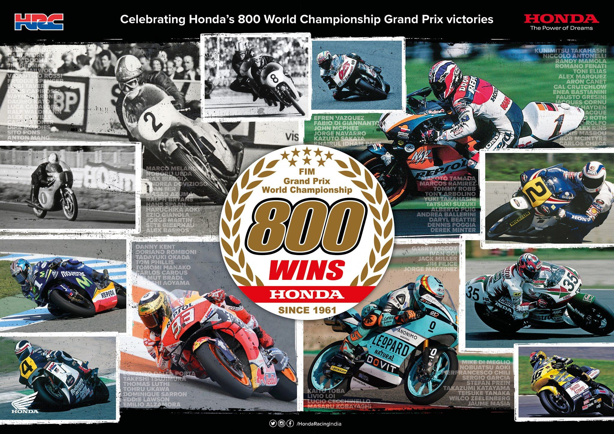800th Win for Honda Racing !! Book a Honda vehicle and get it delivered from the comfort of your home !! #hondabikes #hondascooters #hondavehicles #800wins #bikerace #buynow #emiavailable #bestoffers #bestemi #reasonablebudget #hondaxblade #hondahornet #racebikes
