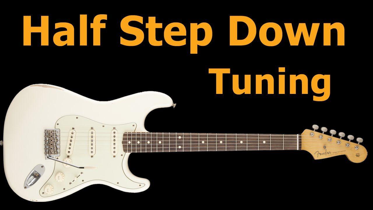 Half Step Down Guitar Tuning Guitar tuning, Guitar