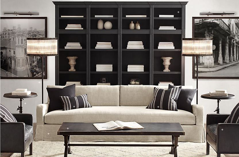 Restoration Hardware Living Room  potterybarn