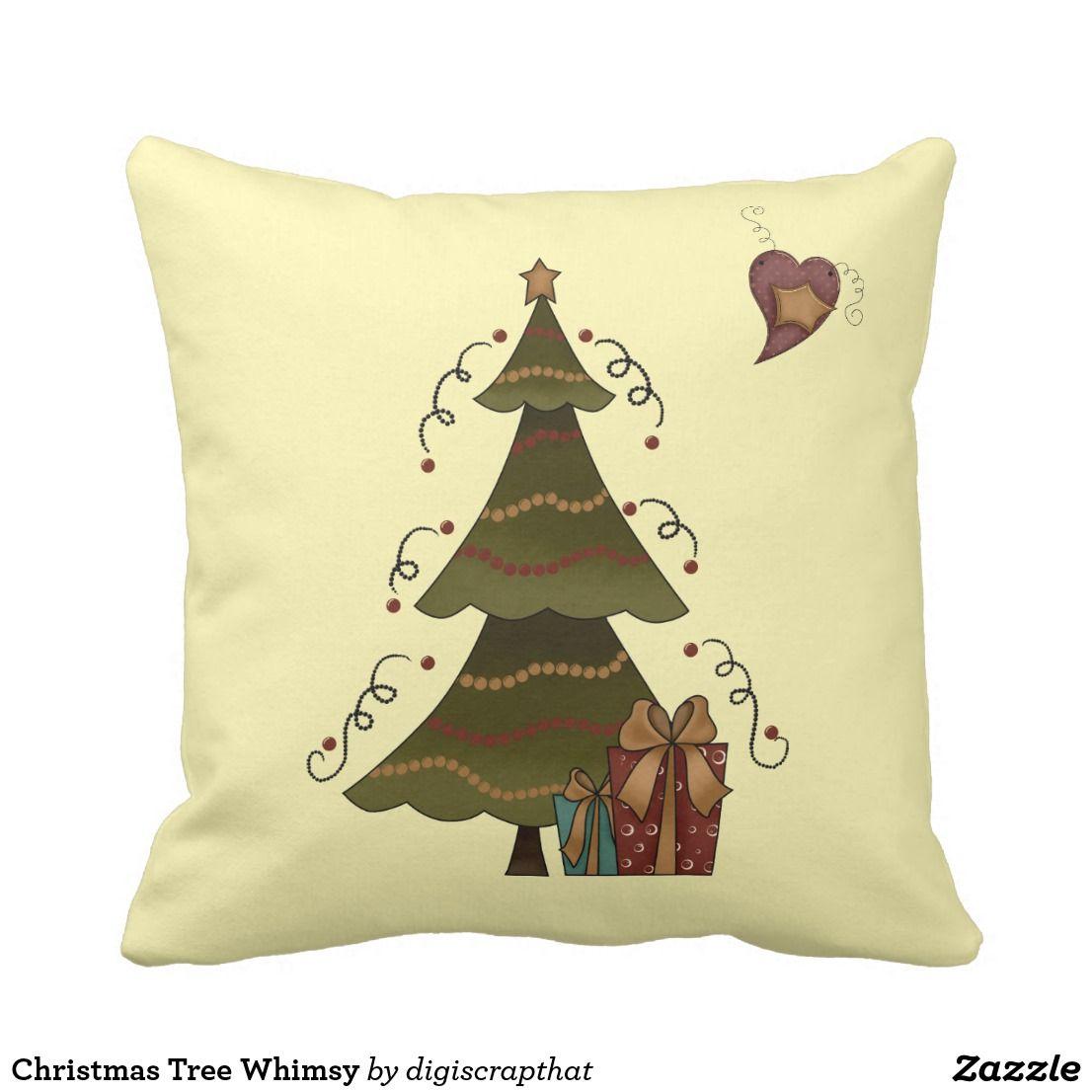 Christmas tree whimsy throw pillow christmas pinterest