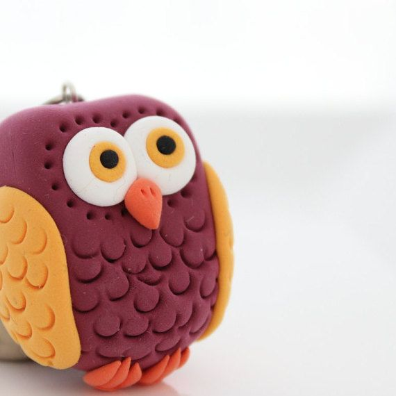 Owl keychain by MissSnowyOwl on Etsy