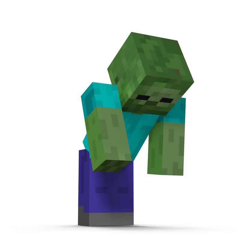 Minecraft Zombie Rigged 3d Model Zombie Face Minecraft Zombie