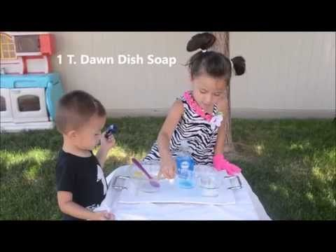 Fun for Kids! How to Make Bouncing Bubbles Solution to Bounce Bubbles (No glycerin or corn syrup) - YouTube