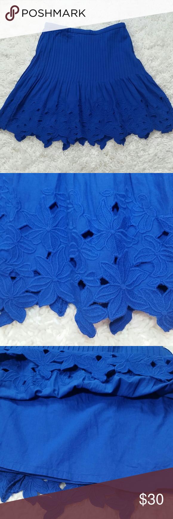 Cobalt Blue Eyelet Cotton
