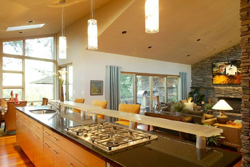 Beautiful counter and open floor plan featured in this for Houseplans bhg com