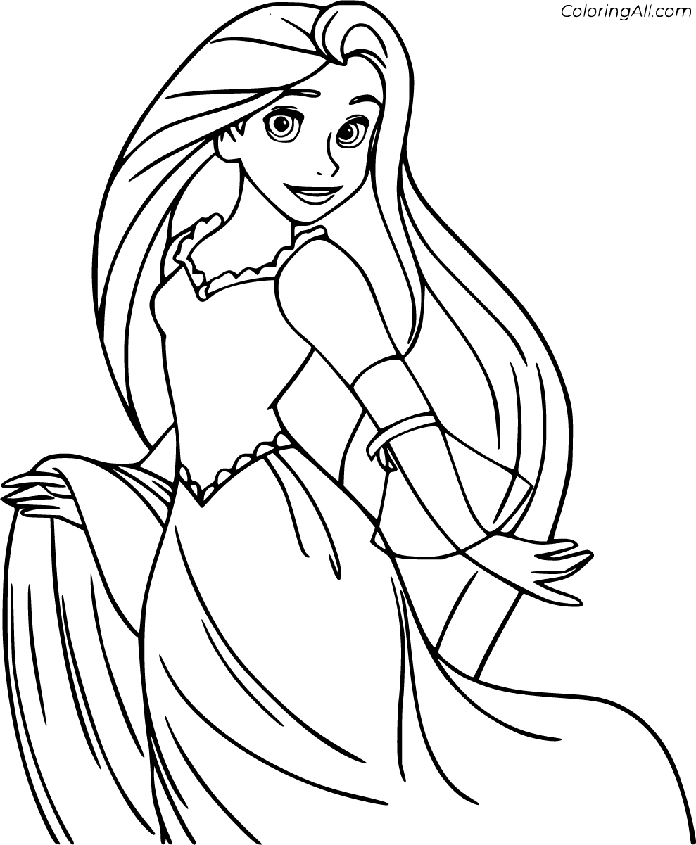 57 Free Printable Tangled Coloring Pages In Vector Format Easy To Print From Any Device And Autom In 2020 Cartoon Coloring Pages Tangled Coloring Pages Coloring Pages