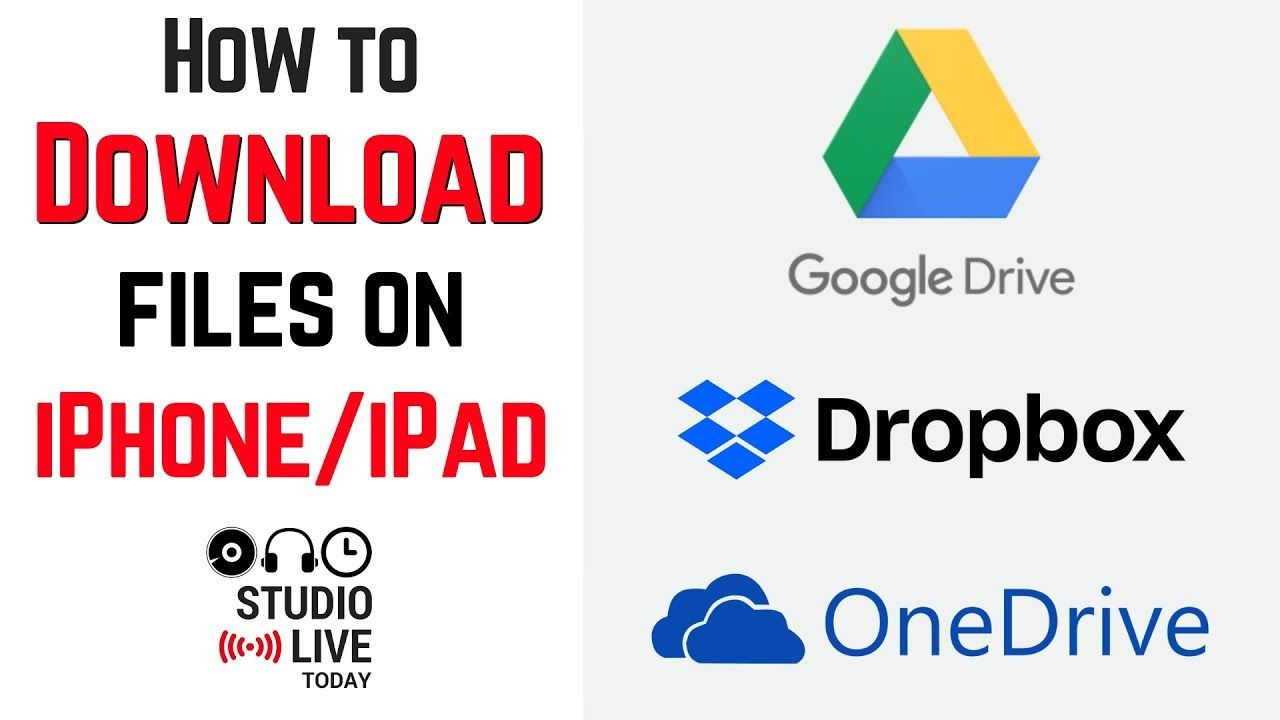 How to download files on iPhone/iPad (Google Drive