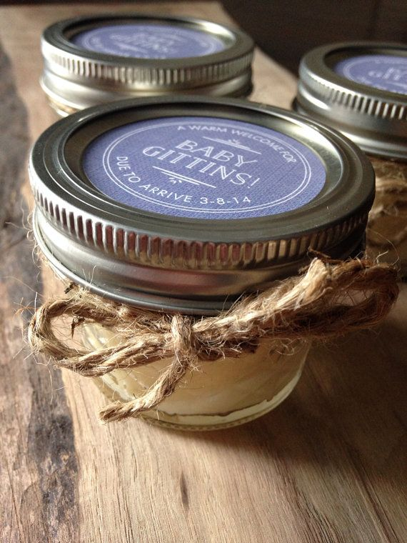 Rustic Wedding favor soy candle/ baby shower favor candle/ bridal ... : quilted jelly jars 4 oz - Adamdwight.com