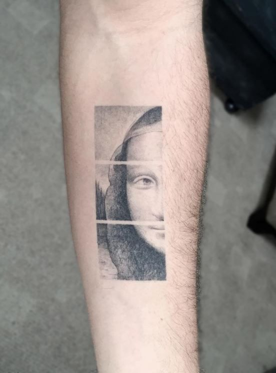 Mona Lisa Tattoo Com Imagens Tatuagem De Van Gogh Tatuagem De