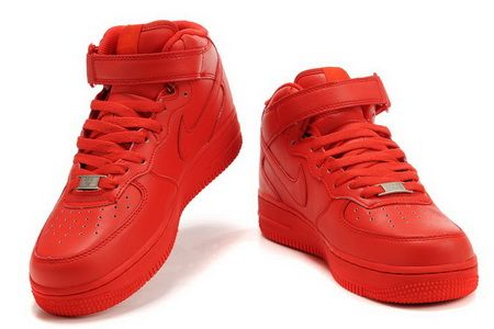 Classic Nike Air Force 1 High QK Child Red #Red #Womens #Sneakers #