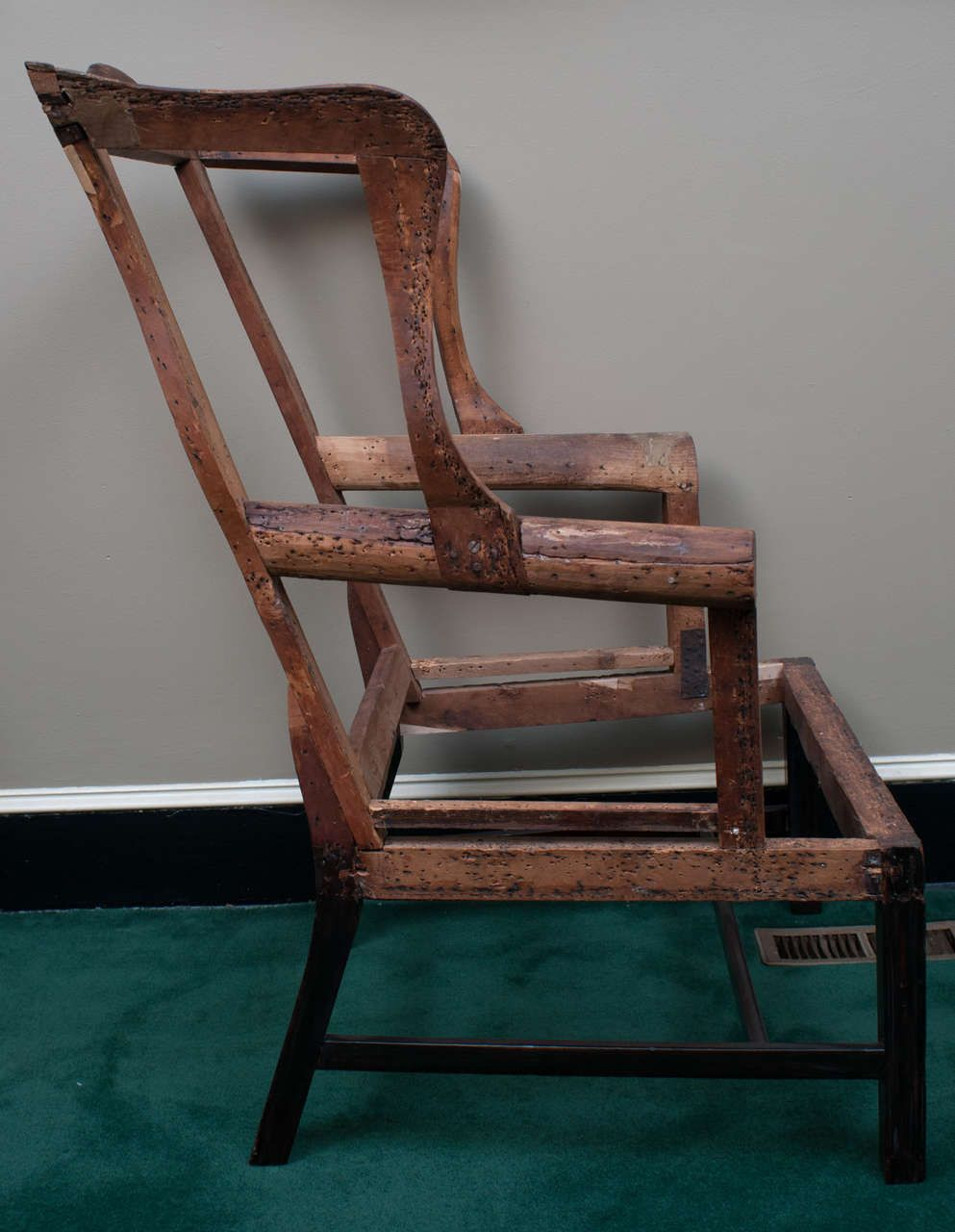 Chippendale Wing Chair Frame | From A Unique Collection Of Antique And  Modern Wingback Chairs At Https://www.1stdibs.com/furniture/seating/wingback  Chairs/