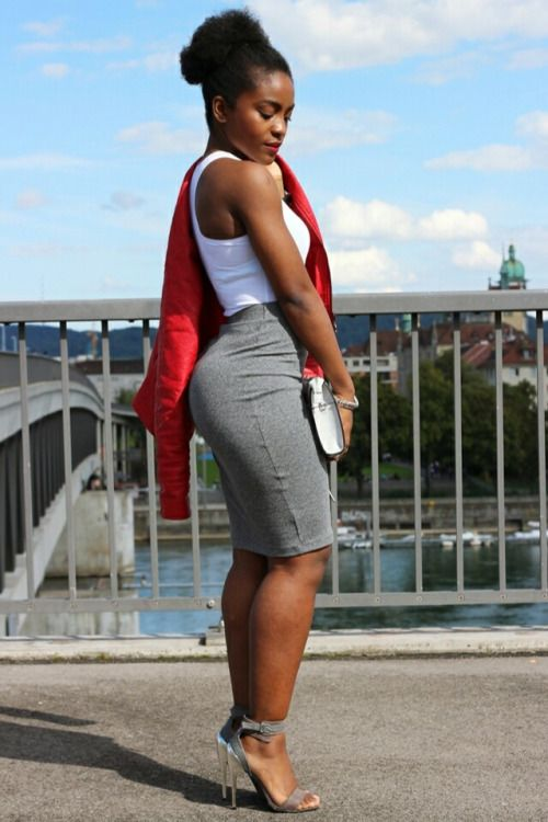 ecstasymodels:Shades of Grey with a hint of Red Jacket - Guess ...
