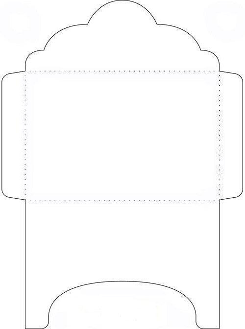 Шаблон конверт для открытки распечатать