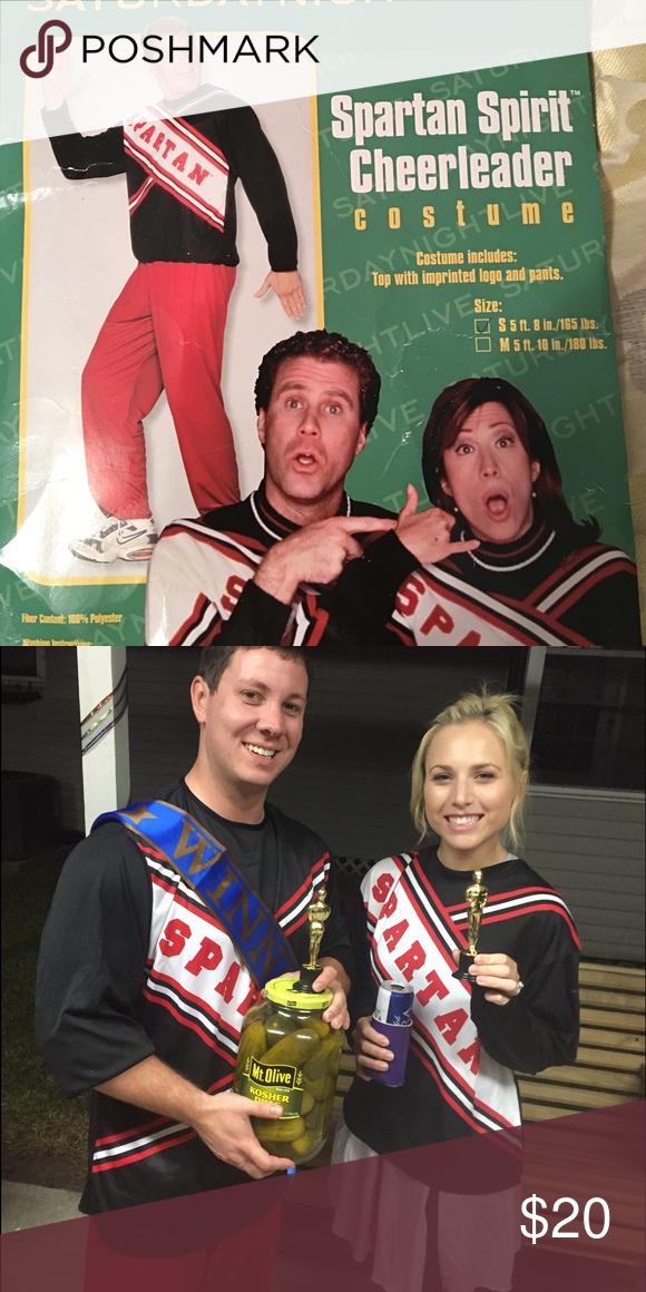 Menu0027s Spartan Cheerleader costume Menu0027s SNL Spartan Cheerleader Costume. Size small. Top and pants  sc 1 st  Pinterest & Menu0027s Spartan Cheerleader costume | Spartan cheerleader costume ...