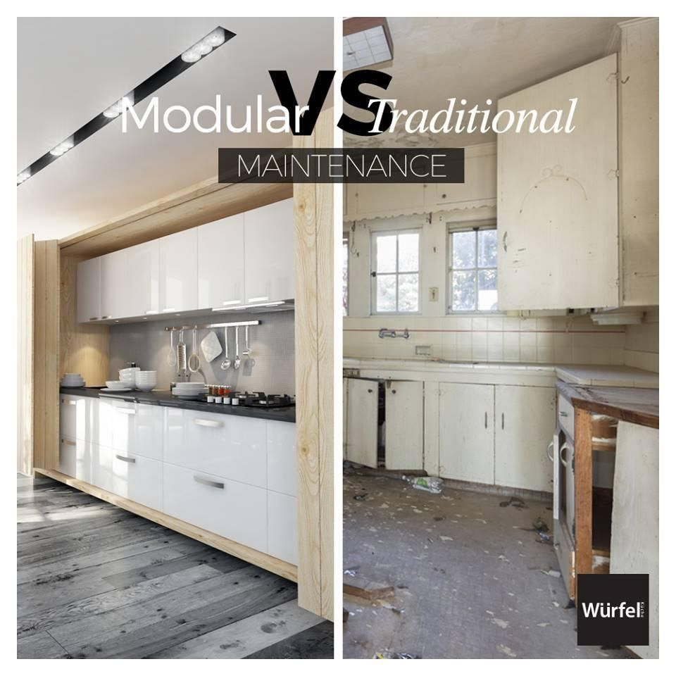 Würfel Kuche Modular kitchens are easy to clean and maintain and ...