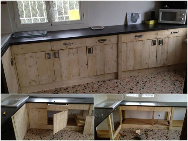 Made Out Of Pallets Pallet Kitchen Cabinets Pallet Kitchen