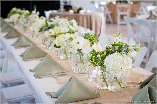 Decoration mariage blanc - Decoration de table mariage vert et blanc ...