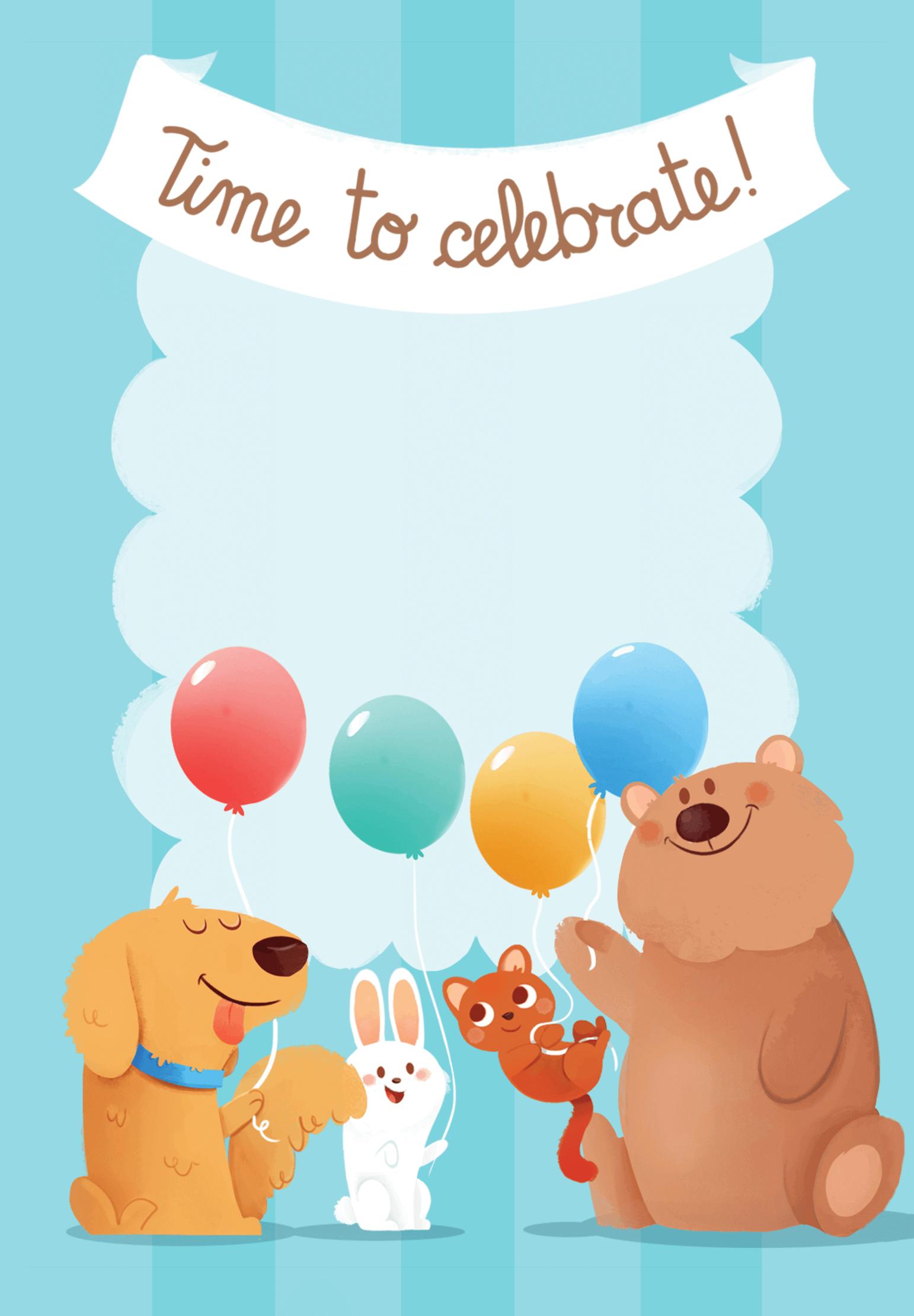 4th Birthday Animals Birthday Invitation Template Free Greetings Island Animal Birthday Invitation Birthday Invitations Birthday Invitation Templates