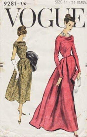 1950 S Vogue 9281 Sewing Pattern Vintage Vogue Patterns Vintage