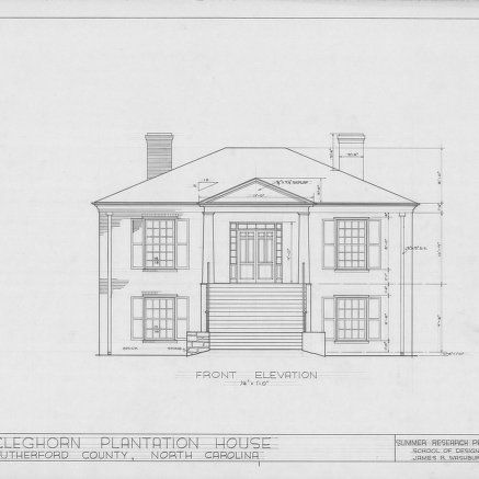 Front elevation, Cleghorn, Rutherford County, North Carolina