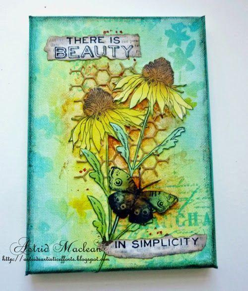 Astrid's Artistic Efforts: Spring Colours- Flower Garden Stamp set
