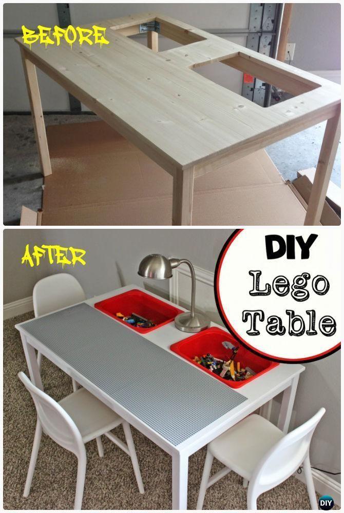 #Esstisch DIY Lego Tisch von IKEA Esstisch Instruction-DIY Lego Tisch Projekt Ideen für .... ... #ikeaideen