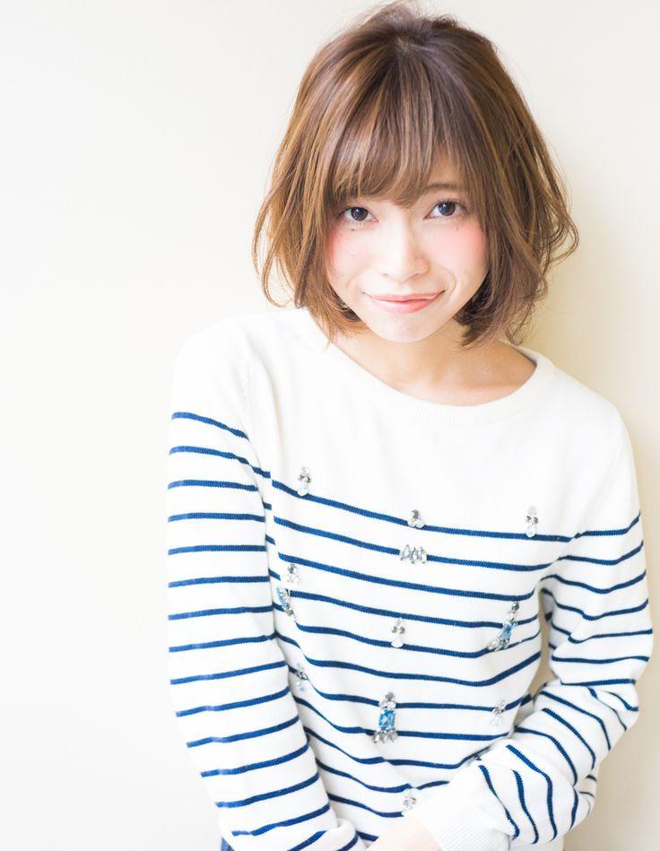 ランダムウェーブボブ(RY-20)   ヘアカタログ・髪型・ヘアス….