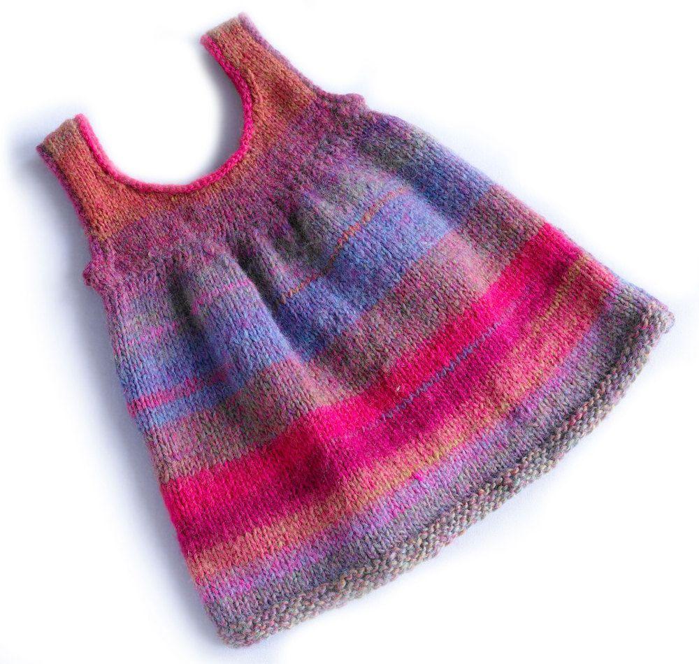 Sweet Sweater Dress in Lion Brand Amazing - 90363AD | Strickanleitungen | LoveKnitting #branddresses
