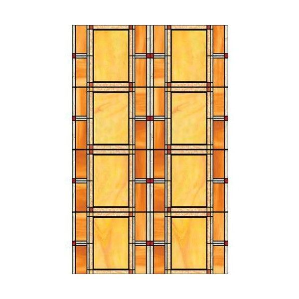Brewster 346-0437 Arts And Crafts Stained Glass Window Film Arts And ...