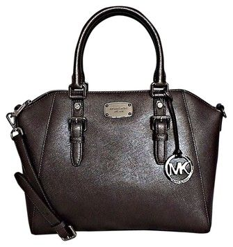 b81fa126db60 Michael Kors Kors Ciara Large Leather With Gift Nickel Satchel on Sale