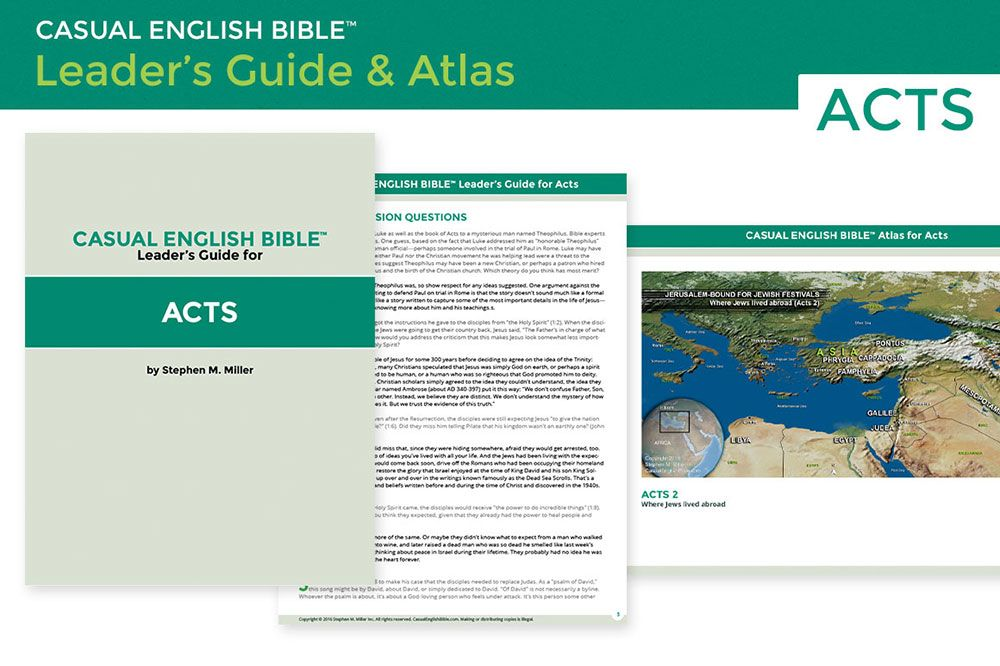 Today I'm launching my first Casual English Bible leader's guide and