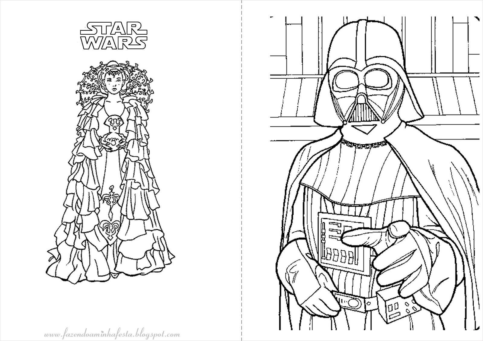 Fazendo A Nossa Festa Colorir Star Wars Livrinho Para Colorir