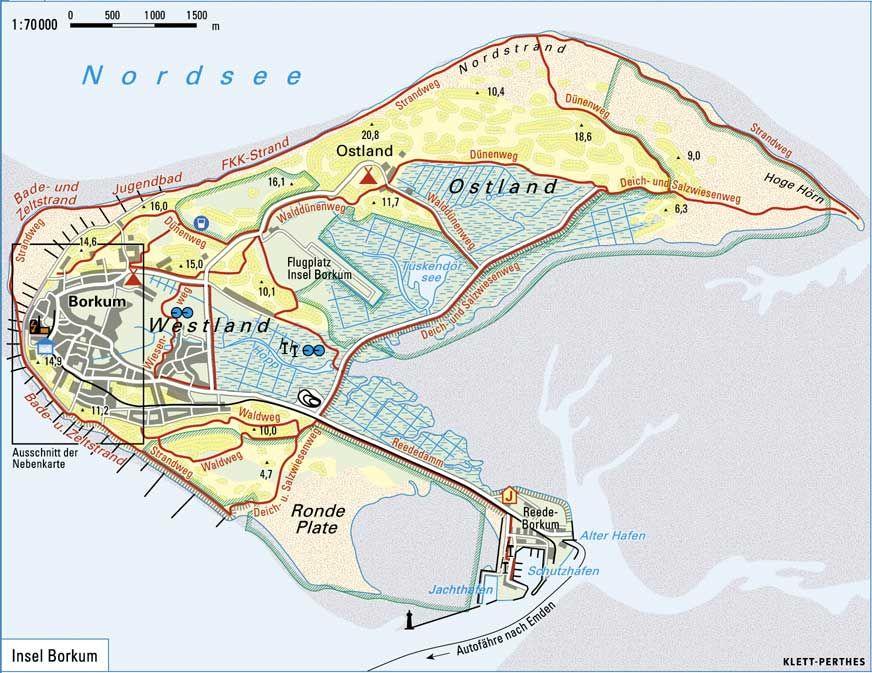 Borkum Karte Mit Bildern Borkum Borkum Karte Insel Borkum