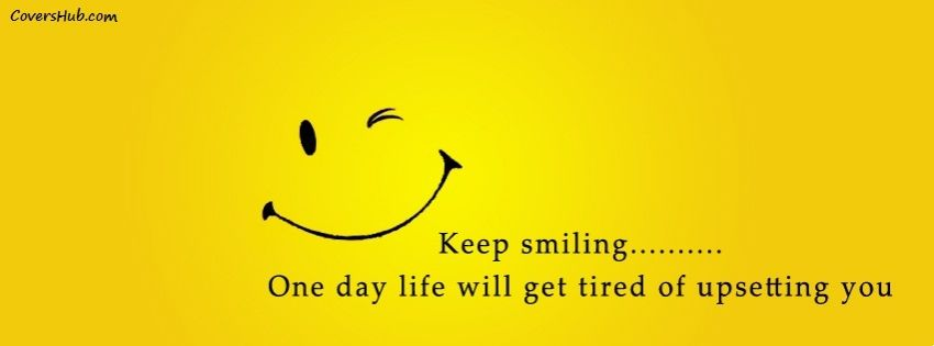 Smile quotes for facebook profile pictures