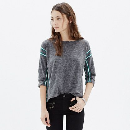 Nordic stripe tee. A supercomfy union between two designer loves: a classic men's athletic sweatshirt and a vintage gem of a Nordic sweater.