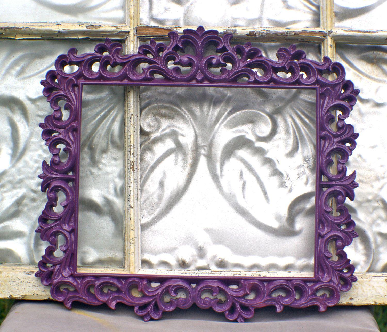 Ornate Picture Frame 8 X 10 Plum Purple Wedding