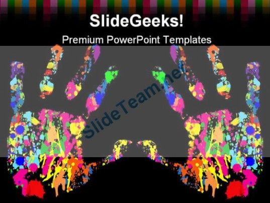 Hand Print Diversity Globe Powerpoint Backgrounds And